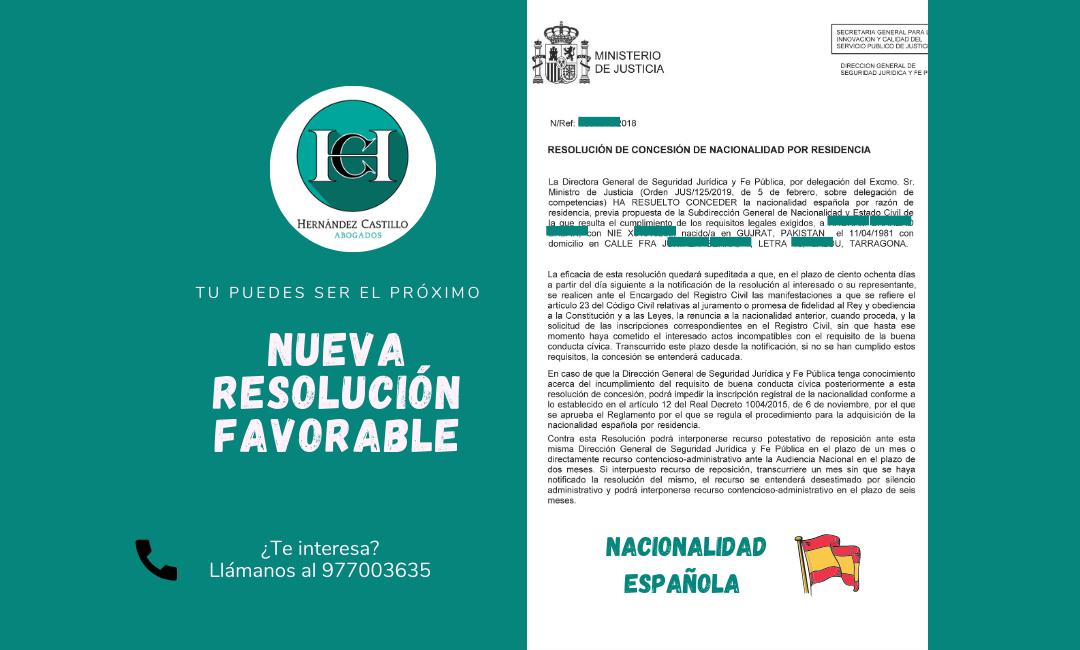 NACIONALIDAD ESPAÑOLA CONCEDIDA A MUSA MEDIANTE RECURSO CONTENCIOSO