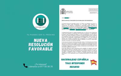 NACIONALIDAD ESPAÑOLA CONCEDIDA A SAADIA TRAS INTERPONER RECURSO CONTENCIOSO