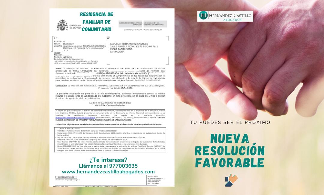 RESIDENCIA DE FAMILIAR DE COMUNITARIO RESUELTA EN SOLO 3 DIAS
